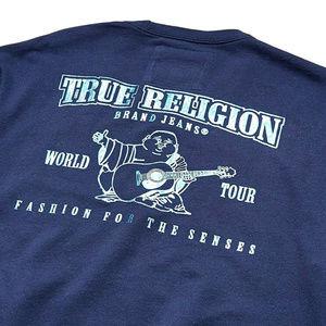 True Religion Men's Metallic Print Sweatshirt